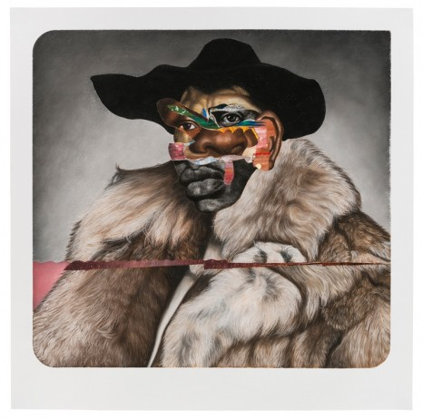 Nathaniel Mary Quinn, Buck Nasty: Player Haters Ball, 2017 , Rhona Hoffman Gallery