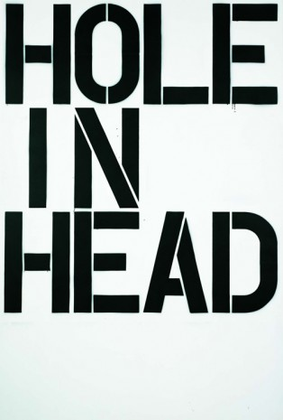 Christopher Wool, Head, 1992, White Cube