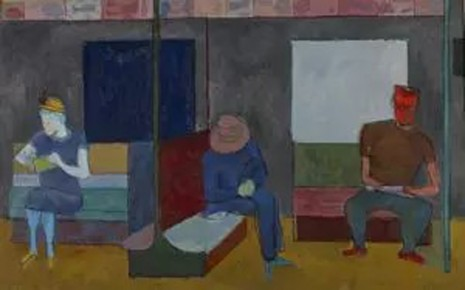 Alex Katz, Three Figures On a Subway, c. 1948, Timothy Taylor