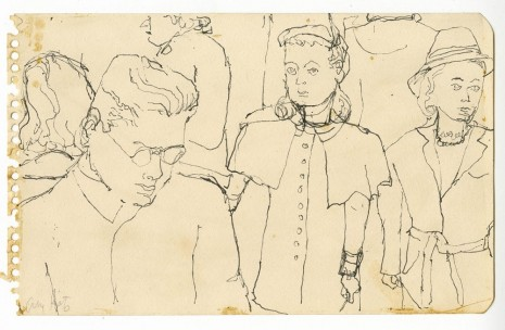 Alex Katz, Crowd on Subway, c. 1940s , Timothy Taylor