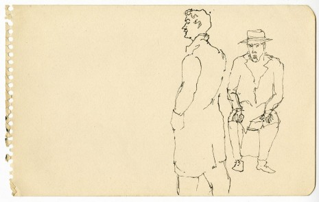 Alex Katz, Two Men, c. 1940s , Timothy Taylor