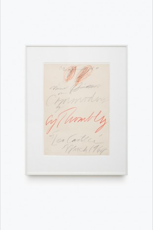 Cy Twombly, Proof for Poster for 'Nine Discourses on Commodus by Cy Twombly at Leo Castelli', 1964, Almine Rech