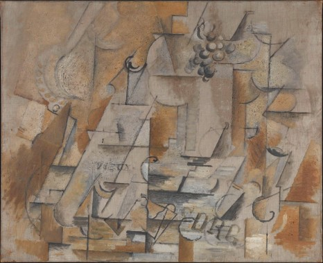 Georges Braque, Fruit Bowl, Bottle, and Glass [Compotier, bouteille et verre]., August 1912 - September 1912, Almine Rech