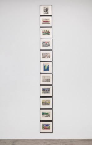 Marcel Broodthaers, Twelve handcolored engravings, 1974 , Marian Goodman Gallery