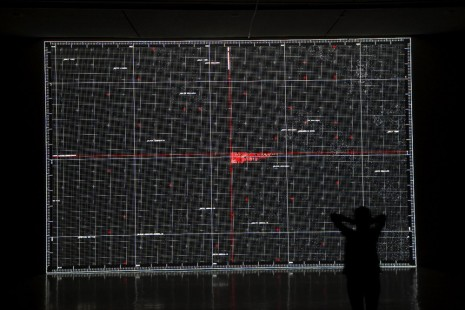 Ryoji Ikeda, data.tron [WUXGA version], 2011 , Almine Rech Gallery