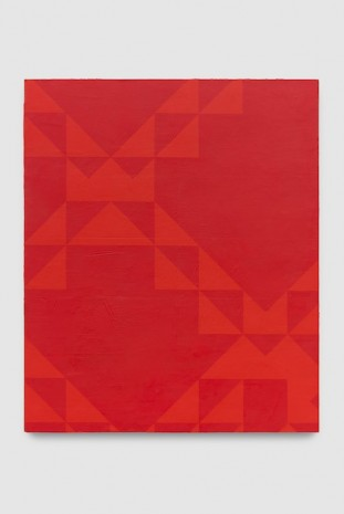 Mark Hagen, To Be Titled (Naphthol Red), 2017, Almine Rech Gallery