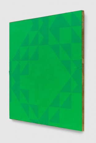 Mark Hagen, To Be Titled (Phthalo Green), 2017, Almine Rech Gallery