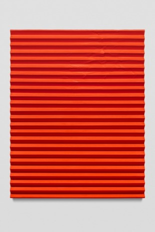 Mark Hagen, Orgone Therapy II (Accordion Fold Naphthol Red, Cadmium Orange), 2017, Almine Rech Gallery