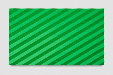 Mark Hagen, Contemplation of Nature (Accordion Fold Light Green), 2017, Almine Rech Gallery