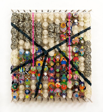 Jacob Hashimoto, Perhaps No One in 5 Billion Years Will Come Upon Them, 2017 , Rhona Hoffman Gallery