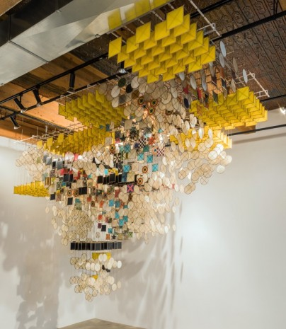 Jacob Hashimoto, The Dark Isn't The Thing To Worry About, 2017, Rhona Hoffman Gallery