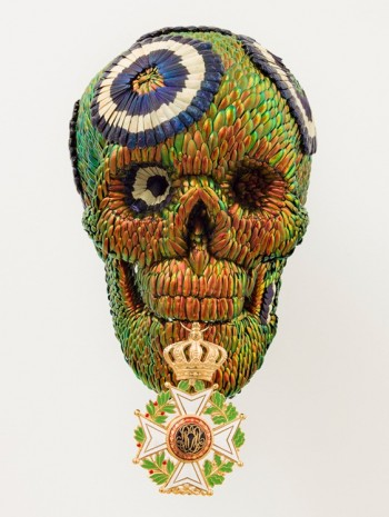 Jan Fabre, Skull with the Medal of the Order of Leopold, 2017, Galería Javier López & Fer Francés