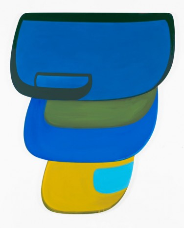 Joanna Pousette-Dart, Untitled Blue, Green, Yellow, 2017, Brand New Gallery