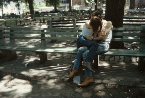 Nan Goldin, Suzanne and Philippe on the bench, Tompkins Square Park, NYC, 1983 , Matthew Marks Gallery