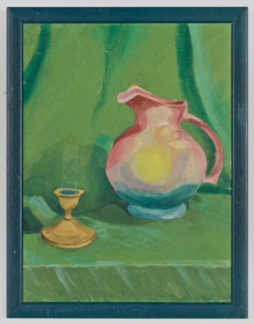 Gedi Sibony, Still Life with Pitcher and Green Curtain, 2017 , Gladstone Gallery