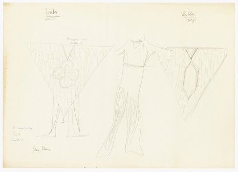 "Mary Bauermeister, costume design for Karlheinz Stockhausen, ""Sirius"", , Galerie Buchholz"
