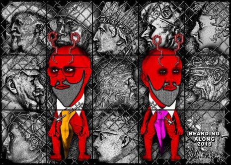 Gilbert & George, BEARDING ALONG, 2016 , White Cube