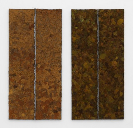 Pier Paolo Calzolari, Moss (diptych), 1979-1991 , Marianne Boesky Gallery