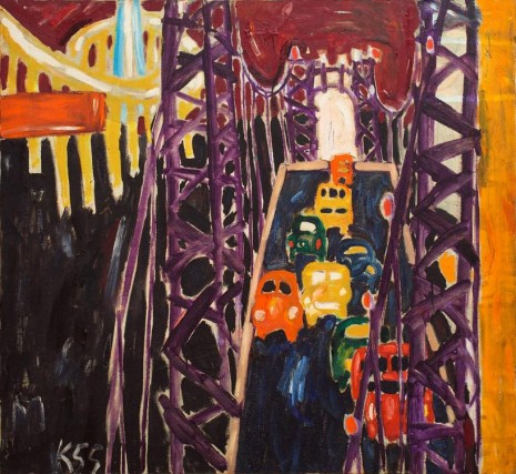 Allan Kaprow, George Washington Bridge, with Cars, 1955 , Hauser & Wirth