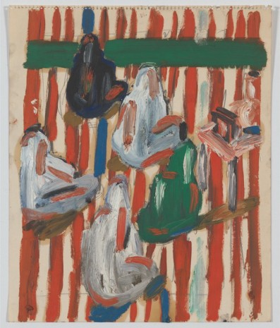 Allan Kaprow, Seated Arabs in Striped Tent, 1954 , Hauser & Wirth