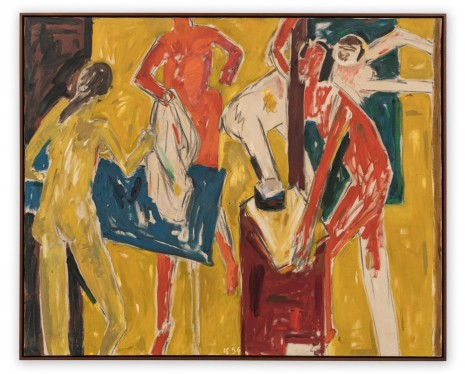 Allan Kaprow, Figures in Yellow Interior, 1954 , Hauser & Wirth