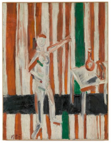 Allan Kaprow, Standing Nude Against Red and White Stripes, 1955 , Hauser & Wirth