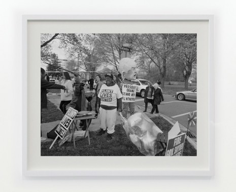 LaToya Ruby Frazier, Students and Residents outside Northwestern High School (est. 1964) awaiting the arrival of President Barack Obama, May 4th 2016, III, 2016 / 2017, Gavin Brown's enterprise