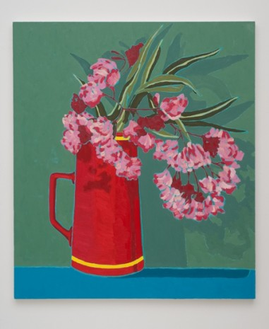 Holly Coulis, Pink Flowers, Red Vase , 2011, Cherry and Martin
