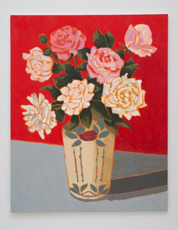 Holly Coulis, Roses with Red Background, 2011, Cherry and Martin