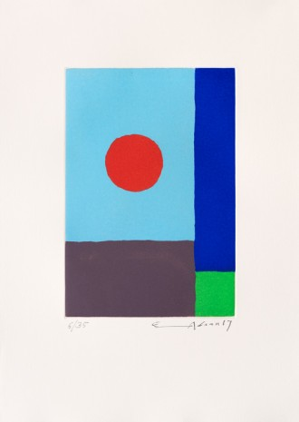 Etel Adnan , Power of Sun, 2017 , Galerie Lelong & Co.