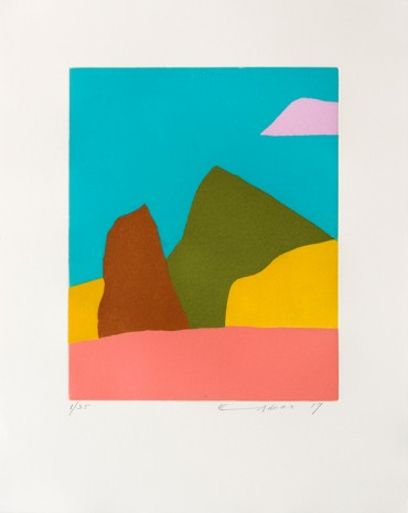 Etel Adnan , Californie, 2017, Galerie Lelong & Co.