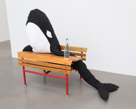 Cosima von Bonin, KILLER WHALE WITH LONG EYELASHES 2 (SCHOOL DESK VERSION), 2018 , Petzel Gallery