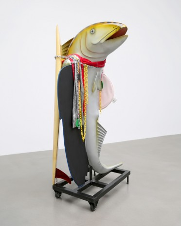 Cosima von Bonin, WHAT IF IT BARKS 4 (SURFBOARD VERSION), 2018, Petzel Gallery