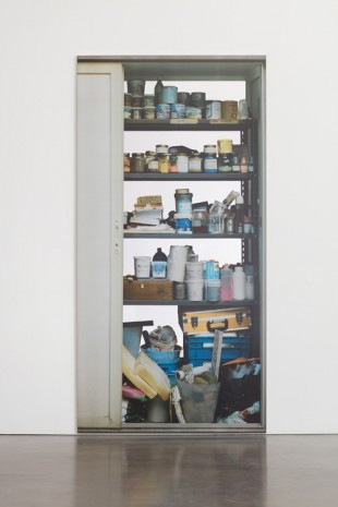 Michelangelo Pistoletto, Scaffali - con porta a sinistra (Shelves – with a door to the left), 2015 , Simon Lee Gallery