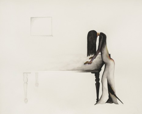 Grace Schwindt, Woman and Table, 2018 , Zeno X Gallery