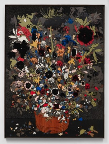 Matthew Day Jackson, Flowers in a Wooden Vessel, 2017 , Hauser & Wirth