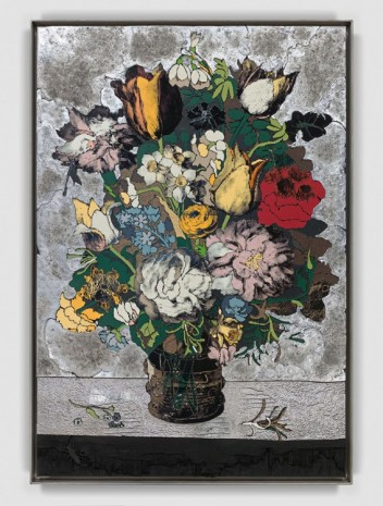 Matthew Day Jackson, Bouquet of Flowers in a Glass Vase, 2018 , Hauser & Wirth