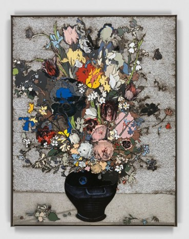 Matthew Day Jackson, Bouquet of Flowers in a Blue Vase, 2018 , Hauser & Wirth