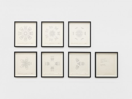 Barbara T. Smith, 1 Set of Snowflakes, 1975 , Andrew Kreps Gallery