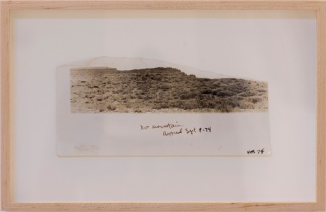 Paul Kos, Ripped Mountain, 1974, Galerie Georges-Philippe & Nathalie Vallois