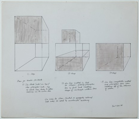 Paul Kos, Plan for a Kinetic Ice Block, 1969 , Galerie Georges-Philippe & Nathalie Vallois