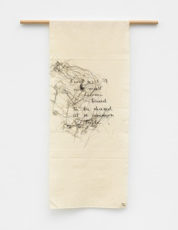 Maria Lai, English cloth, 2004 , Marianne Boesky Gallery