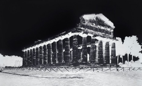Vera Lutter, Temple of Athena, Paestum, V: October 8, 2015, 2015 , Gagosian