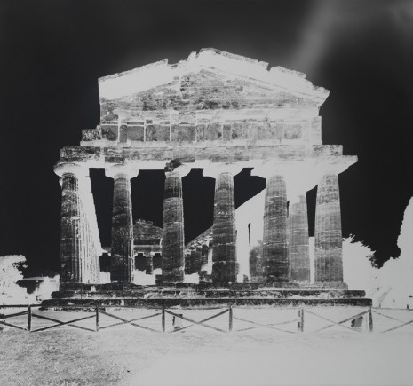 Vera Lutter, Temple of Athena, Paestum XIII: October 13, 2015, 2015, Gagosian