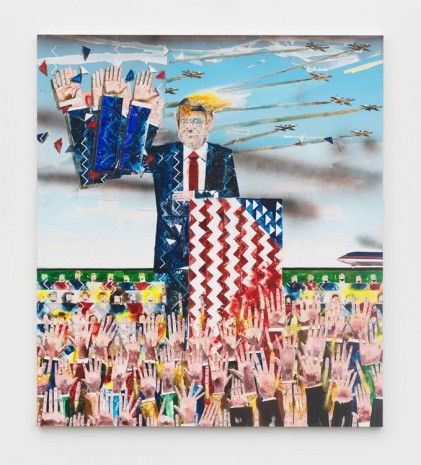 Barnaby Furnas, The Rally, 2017-2018, Marianne Boesky Gallery