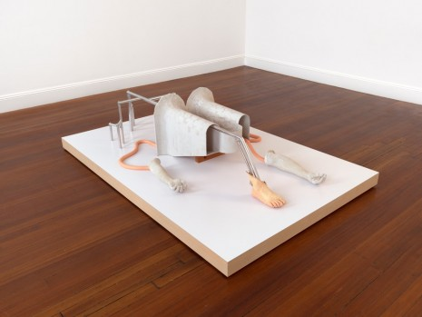 Julian Hoeber, Twin Hallways Going Nowhere with Arm, Leg, Foot, 2017, Blum & Poe