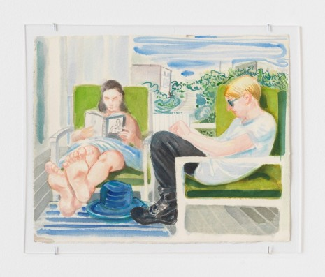 Nicole Eisenman, Drawing #1 On the Porch, 2014 , Anton Kern Gallery