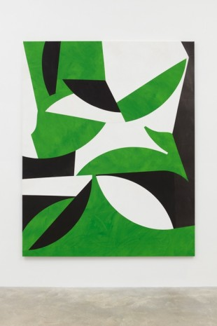 Sarah Crowner, Tropical Forms (Grass Green), 2017 , Casey Kaplan