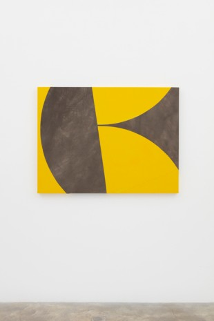 Sarah Crowner, Stacked Yellow, 2018 , Casey Kaplan