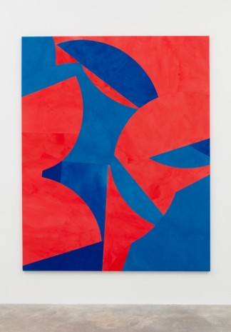 Sarah Crowner, Low Hanging Fruit (Red and Blue), 2017, Casey Kaplan